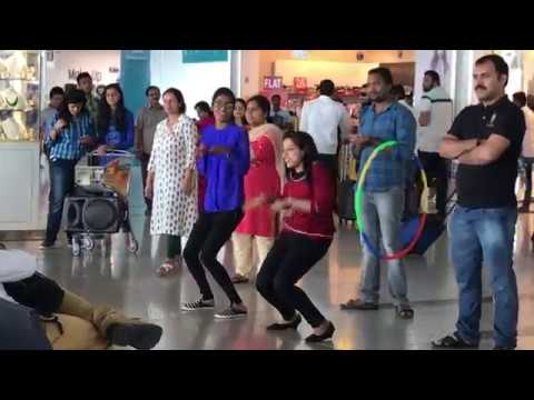 Great talent among the travelling public at departure gates Hyderabad airport {HYD}