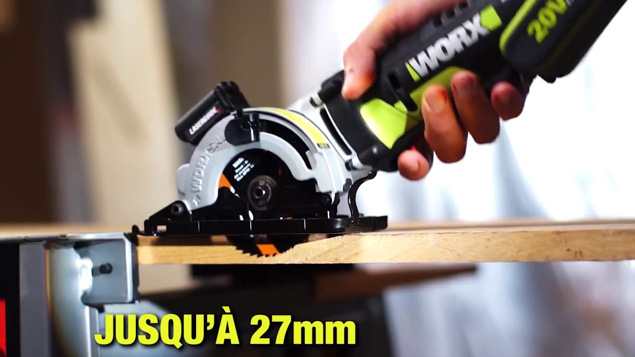 Mini scie plongeante 20v wu520 worx youtube - Mini scie plongeante ...
