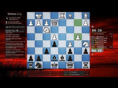 ♚ Magnus Carlsen (DrDrunkenstein) vs Hansen 🔥 30 Second Bullet Chess on Lichess  February 5, 2018