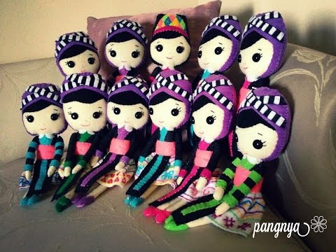 Hmong item of the day: hand made DIY Hmong dolls made out of felt