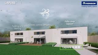 Renson戶外休閒空間-Lapure系列】  家與自然連結的起點