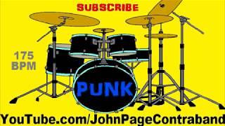 Upbeat Skate Pop Punk Drum Track Beat Song 175 bpm