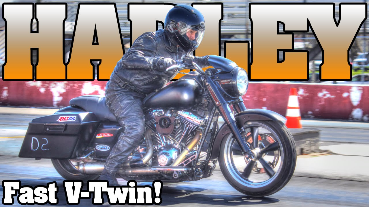 Bike Tune Up >> 10 second Harley Davidson Bagger motorcycle drag racing 2016 - YouTube