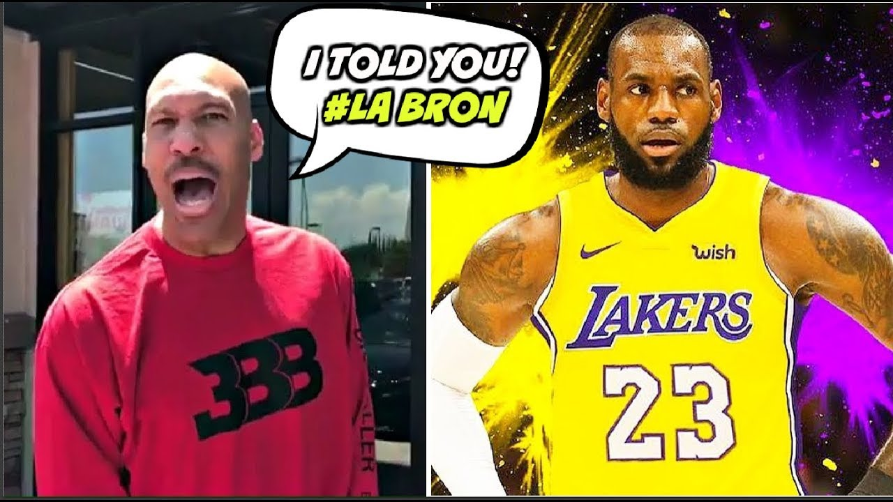 e075f71679a8 LaVar Ball PREDICTED LeBron James JOINING LONZO AND THE LAKERS Back in 2017  🅱 🅱 🅱️