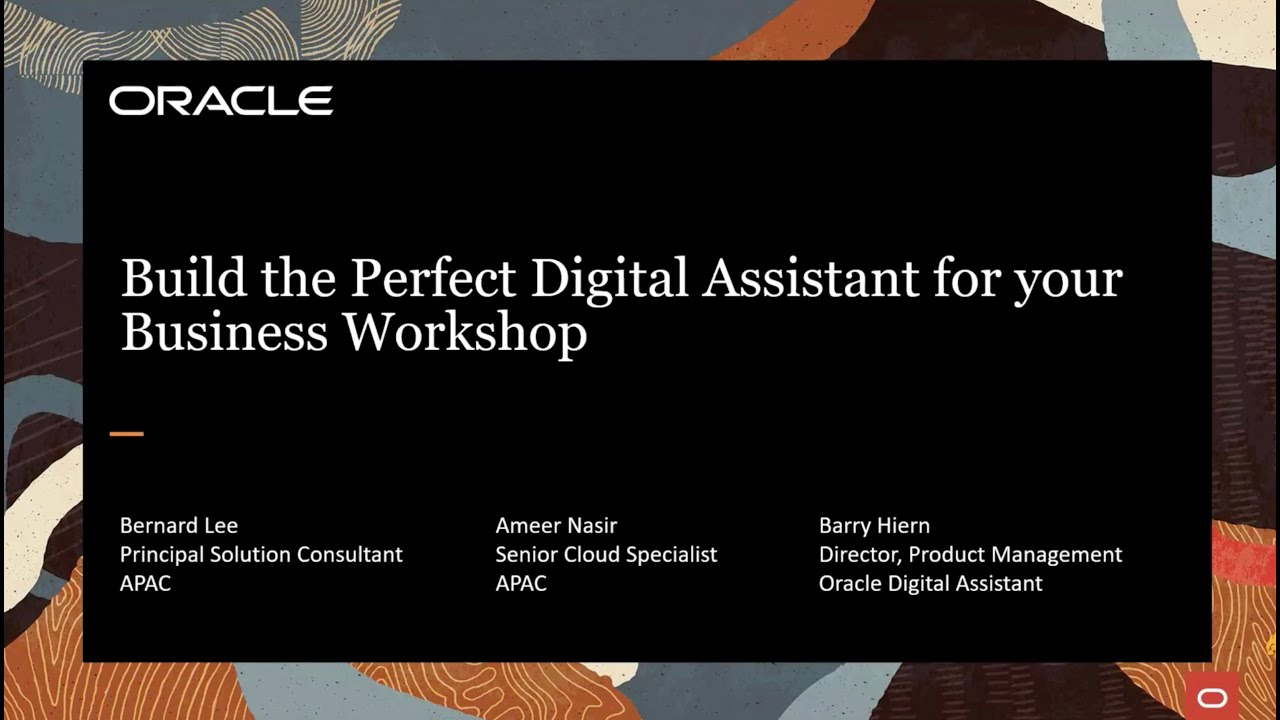 Oracle DevLab: Build the Perfect Digital Assistant for your Business