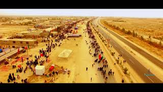 Arbaeen Walk - (4K Drone Aerial View) The Largest Peaceful Gathering in the World