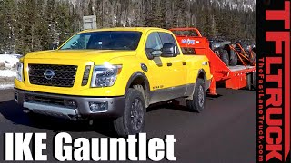 2016 Nissan Titan XD Diesel takes on the Extreme Ike Gauntlet Towing Review