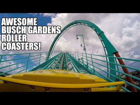 5 Awesome Busch Gardens Tampa Roller Coasters! Kumba! Montu! SheiKra! Cheetah Hunt! Cobra's Curse!
