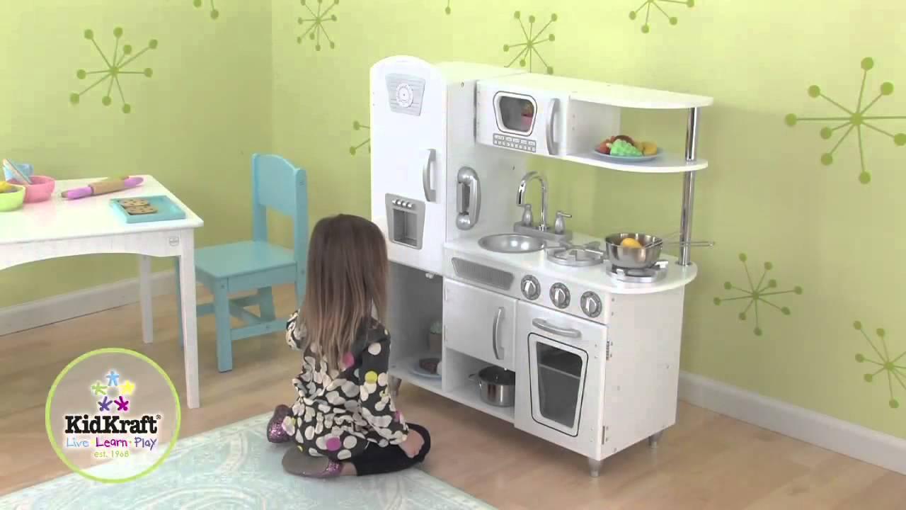 cuisine pour enfants vintage blanche youtube. Black Bedroom Furniture Sets. Home Design Ideas