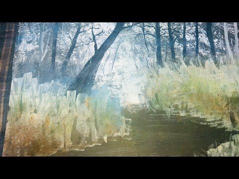 Following Bob Ross Painting Tutorial | Ngikutin Tutorial Melukis ala Bob Ross | Acrylic painting
