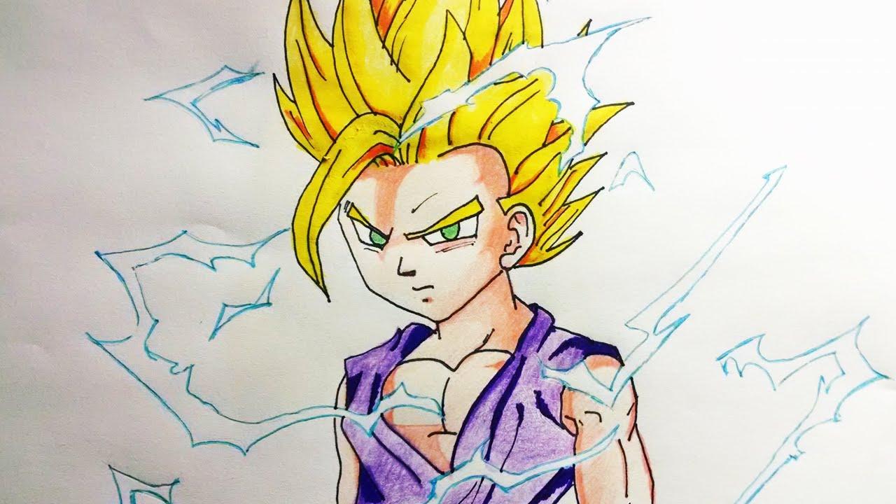 Dibujos Para Colorear De Dragon Ball Z Gohan Ssj2 Ideas: Dibujos De Gohan Faciles De Dibujar