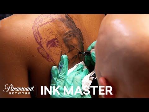 Elimination Tattoo: Presidential Portraits (Black & Grey) - Ink Master, Season 7