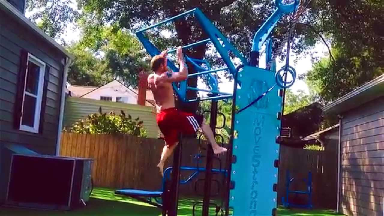 Climber Bar Plyo Pull Ups On Outdoor Fitness Station Youtube