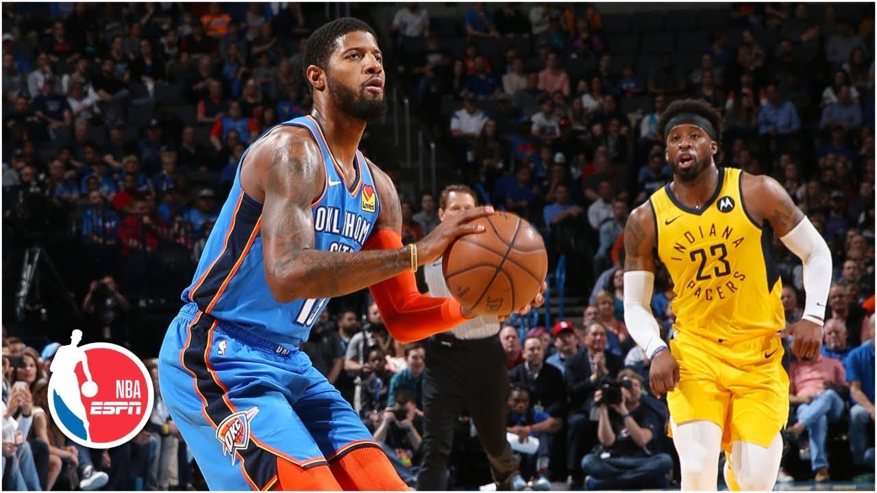 Paul George, Thunder's 24-0 run lead to win vs. Pacers | NBA Highlights