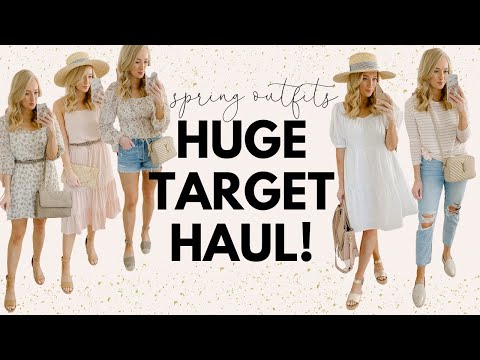 20 SPRING OUTFITS FROM TARGET🌷HUGE TARGET SPRING TRY ON HAUL 2020 | Amanda John