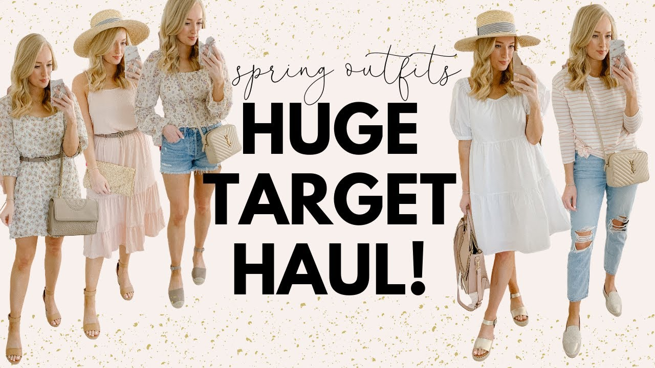 27 SPRING OUTFITS FROM TARGET🌷HUGE TARGET SPRING TRY ON HAUL 2727  Amanda  John