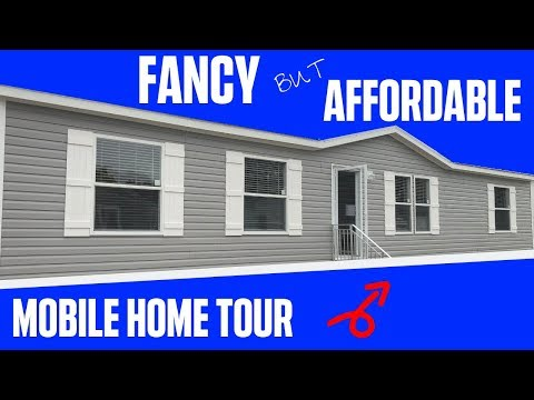 Mobile Home That Is FANCY But AFFORDABLE! 32X60 4 Bed 2 Bath Hamilton Double Wide | Mobile Home Tour