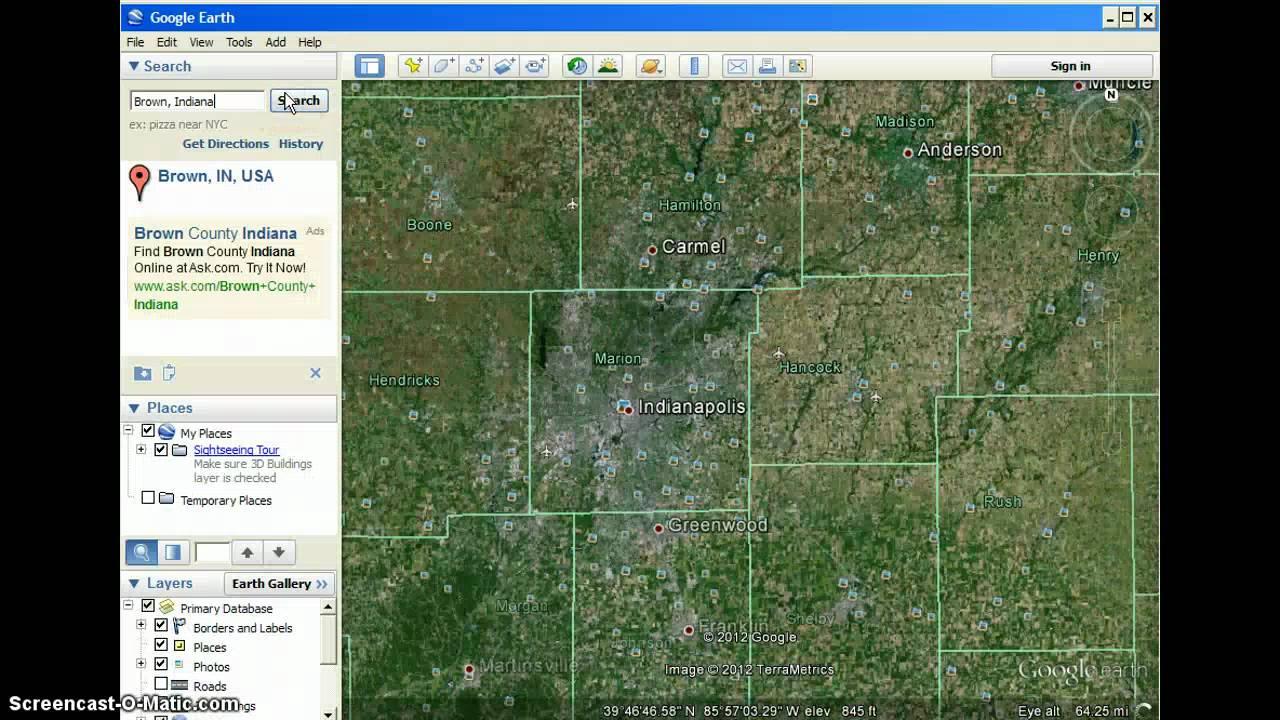 Slender Man Sightings 2012 Map