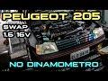 Peugeot 205 SWAP 1.6 16V no dinamômetro - 1º DynoDay FormulaCEM Pt.2