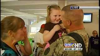 Repeat youtube video Soldier returns from Afghanistan to find his wife 100 pounds lighter!