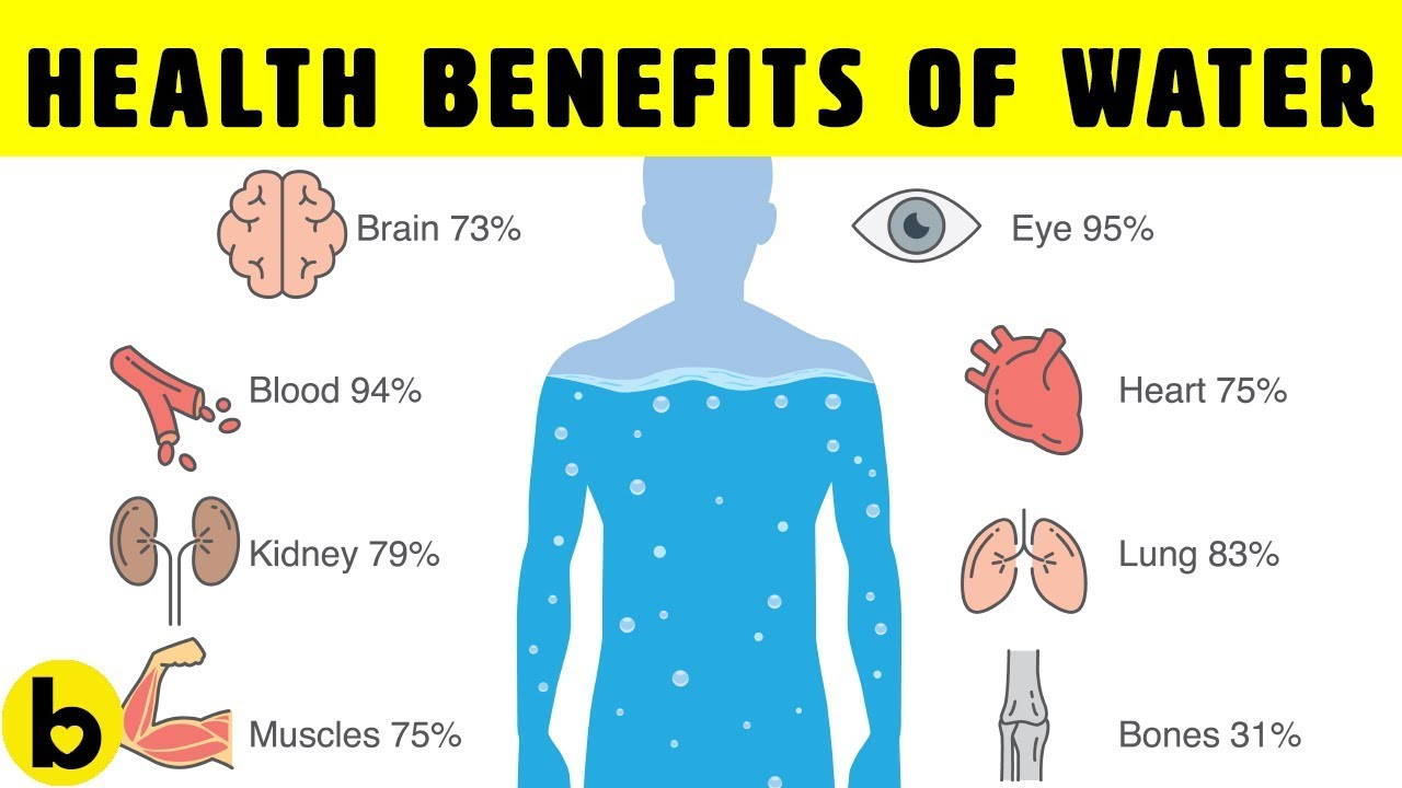 8 Health Benefits Of Drinking Water - YouTube
