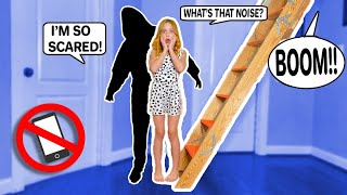I CAUGHT AN INTRUDER during my 24 HOUR NO PHONE CHALLENGE!! **TERRIFYING!** #LillyK #Challenge