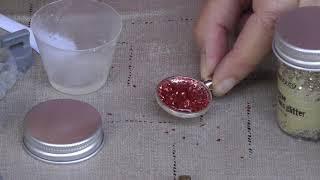 DIY Making Brilliant Crushed Glass Glitter Jewelry
