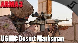 arma 3 usmc desert marksman rhs m14 ebr dmr gameplay