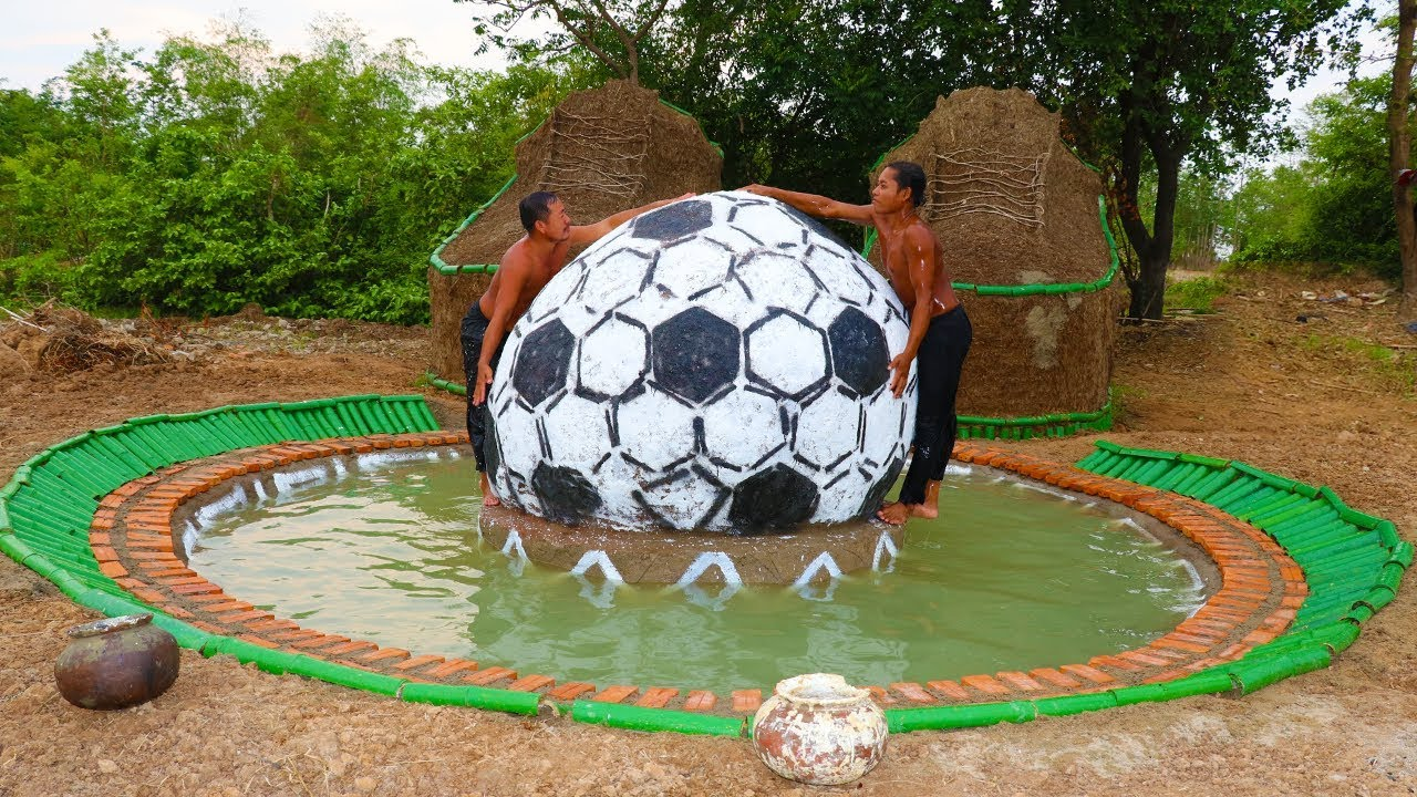 Build Shoe House And Build Football With Swimming Pool In Front Shoe House (full video)