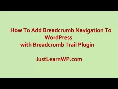 How to add breadcrumb Navigation Menu in Any WordPress Theme