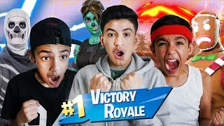 OUR SKINS ARE UNSTOPPABLE! Fortnite RARE SKINS Squad Win With Brothers!