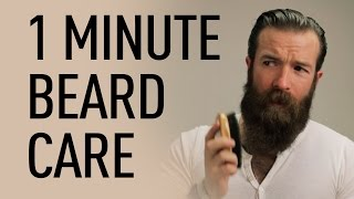 1 Minute Beard Grooming | Jeff Buoncristiano
