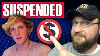 Logan Paul Suspended   $1 Million Per Month Halted