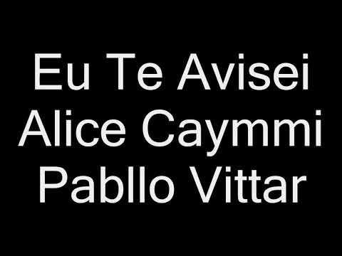 Alice Caymmi Pabllo Vittar - Eu Te Avisei letra