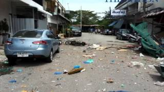 Twin explosions erupted in Pattani, Thailand