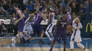 Devin Booker Gets Flagrant Foul For Trying To Knock Over Cory Brewer! Thunder vs Suns!