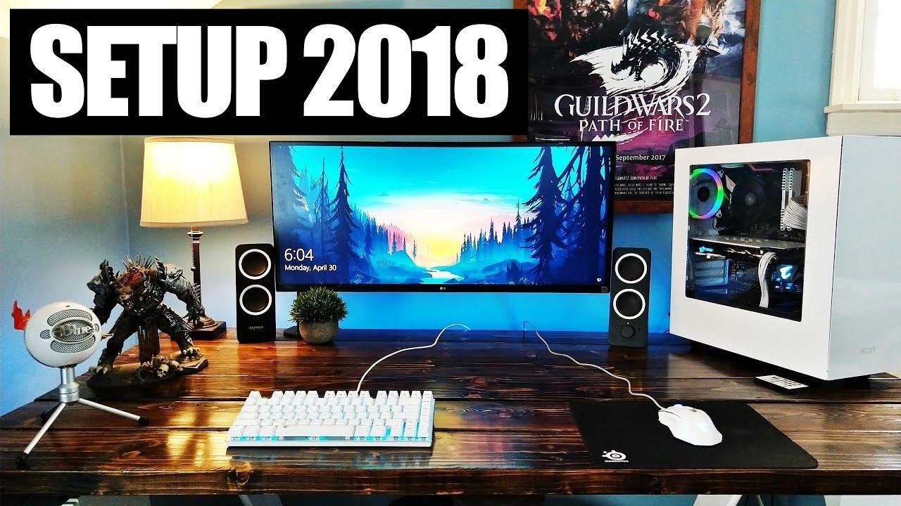 Setup 2018 : setup minimaliste et bureau diy youtube