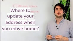 Where to update your address when you move home?