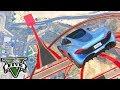 GTA V Online: A CORRIDA COM 95947894 RAMPAS!!! *O SALTO NA RAMPA*