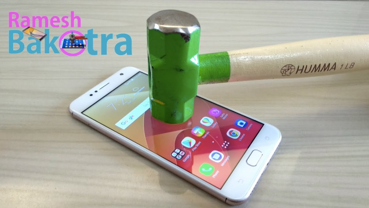 Asus Zenfone 4 Selfie Screen Scratch Proof Glass Test