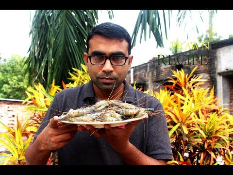 Delicious Chingri posto recipe |  Village food Giant prawn recipe
