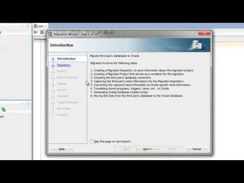 Migration Wizard - Capturing Source Database