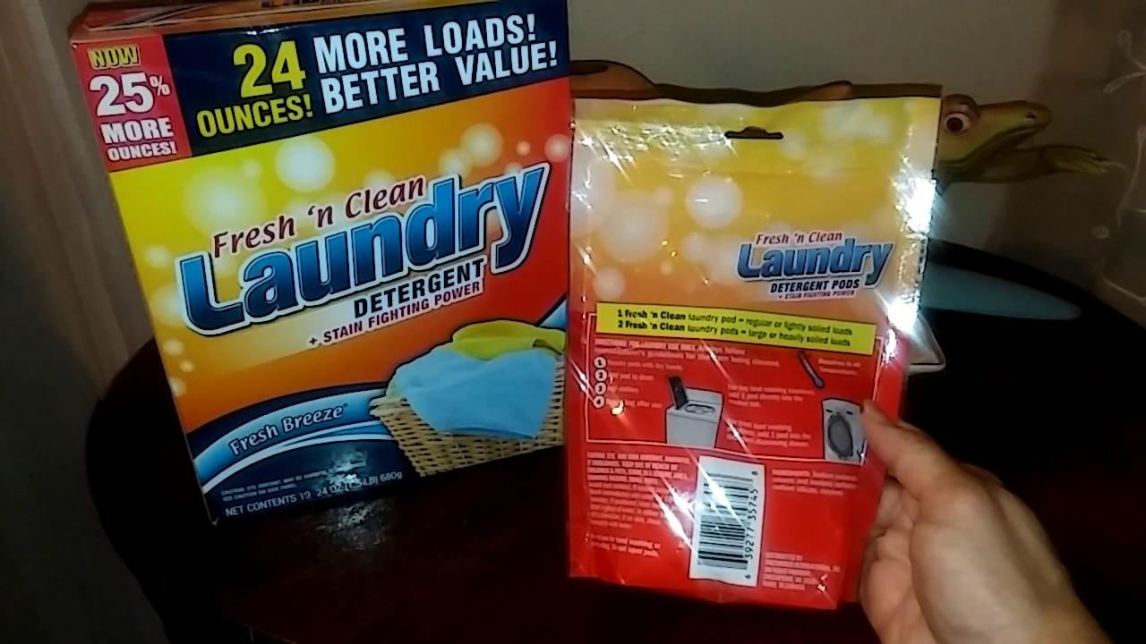 Dollar Tree Fresh N Clean Laundry Pods Youtube