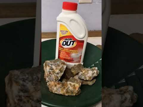 Using iron out to clean rocks and minerals part 2 of 3