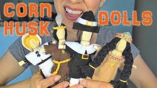 ASMR: Making Harvest-Time Corn Husk Dolls | Harvest-Time Art...