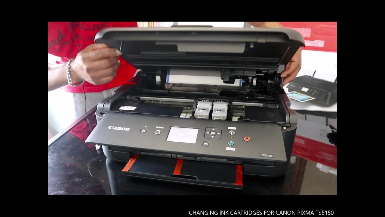 Changing Ink Cartridges For Canon Pixma Ts5150 Youtube