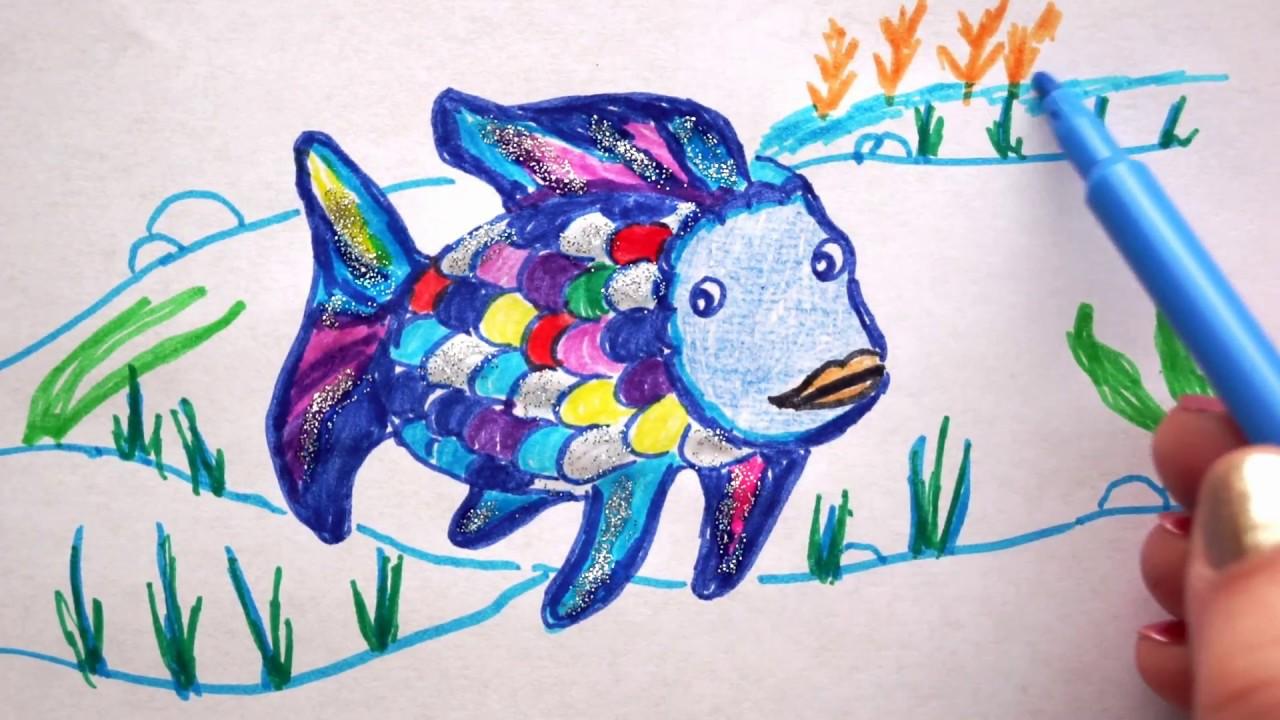 ausmalbild regenbogenfisch  kinder ausmalbilder