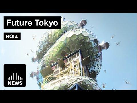 Future Tokyo - Shibuya Hypercast a Futuristic Vertical City