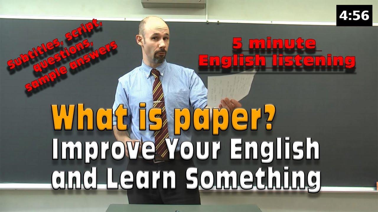 5 minute english speech