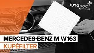 Montering Kupefilter MERCEDES-BENZ M-CLASS (W163): gratis video